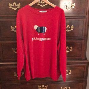 ASOS Curve Holiday Sweater with Baah Humbug logo